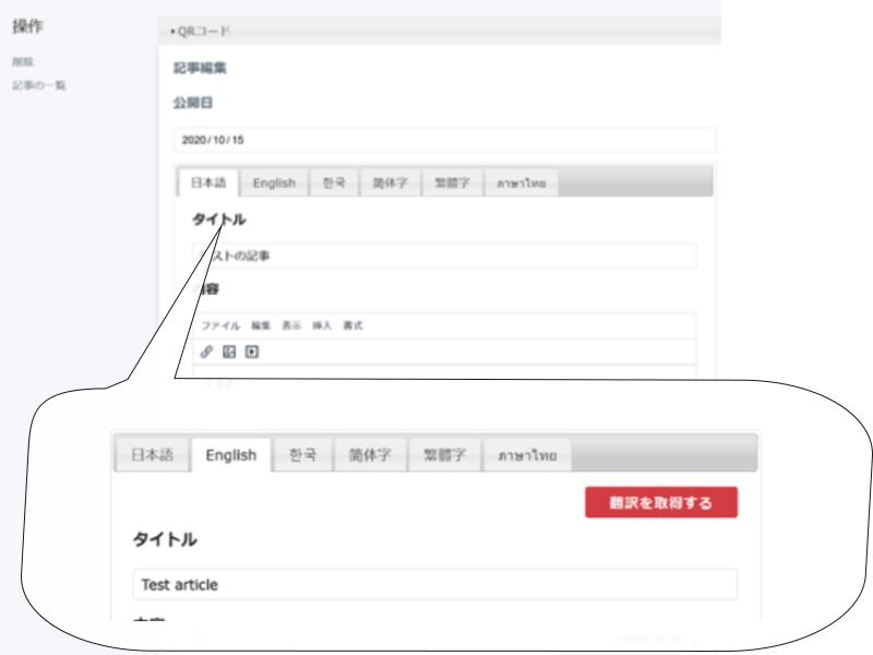 多言語対応CMS
